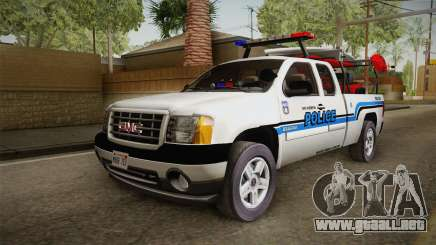 GMC Sierra San Andreas Police Lifeguard 2010 para GTA San Andreas