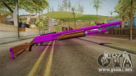 Purple Shotgun para GTA San Andreas