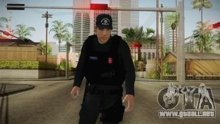 Turkish Police-Rapid Response Unit-Long Sleeves para GTA San Andreas