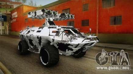 APC GTA 5 GunRunning Custom Turret para GTA San Andreas