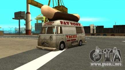 HotDog Fat Tony Tacos Tining 4X4 para GTA San Andreas