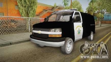 Chevrolet Express CHp para GTA San Andreas