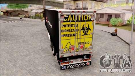 Trailer Biohazard Umbrella Corp. para GTA San Andreas left