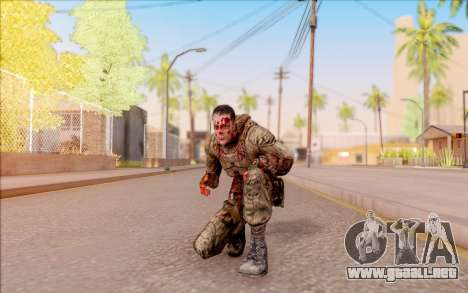 Zombie Degtyarev de S. T. A. L. K. E. R. para GTA San Andreas quinta pantalla