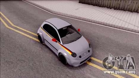 Fiat 500 Abarth para la visión correcta GTA San Andreas