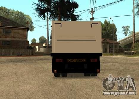 Realistic Arctic2 Trailer para GTA San Andreas vista posterior izquierda