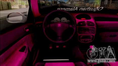 Peugeot 206 para visión interna GTA San Andreas