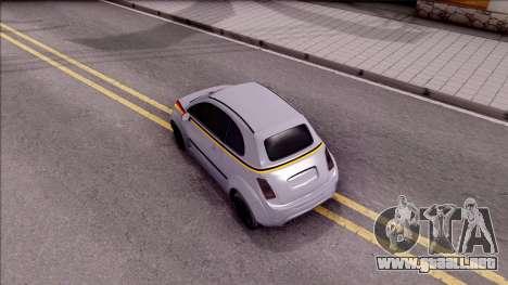Fiat 500 Abarth para GTA San Andreas vista hacia atrás