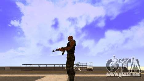 Visualización De La Camiseta para GTA San Andreas tercera pantalla