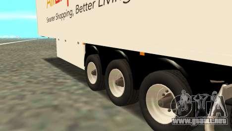 Remolque Aliexpress para GTA San Andreas vista posterior izquierda