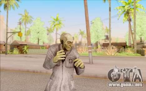 Zombie científico de S. T. A. L. K. E. R. para GTA San Andreas quinta pantalla