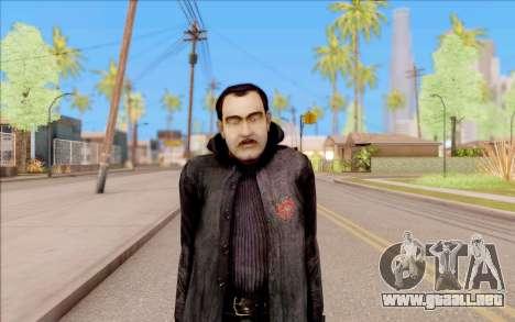 El capitán de Sobolev de S. T. A. L. K. E. R. para GTA San Andreas segunda pantalla