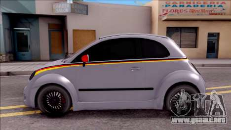Fiat 500 Abarth para GTA San Andreas left