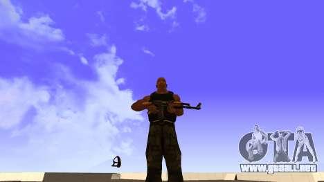Visualización De La Camiseta para GTA San Andreas segunda pantalla