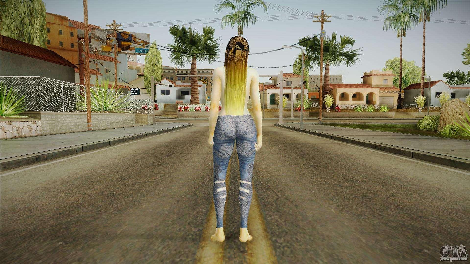 Skyrim Serana Vampire (nude version) for GTA San Andreas