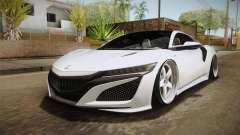 Acura NSX Stance 2017 para GTA San Andreas