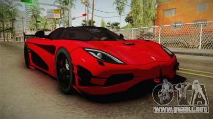Koenigsegg Agera RS v2 para GTA San Andreas