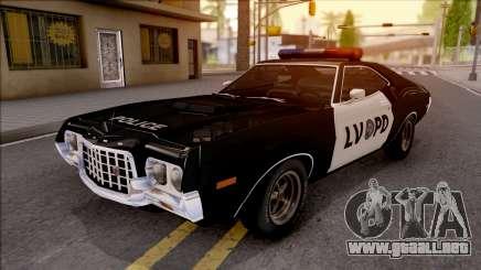Ford Gran Torino Police LVPD 1972 v3 para GTA San Andreas