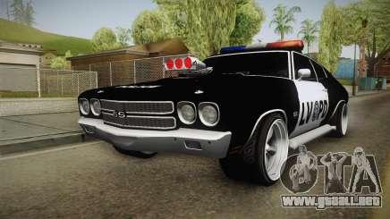 Chevrolet Chevelle SS Police LVPD 1970 v1 para GTA San Andreas