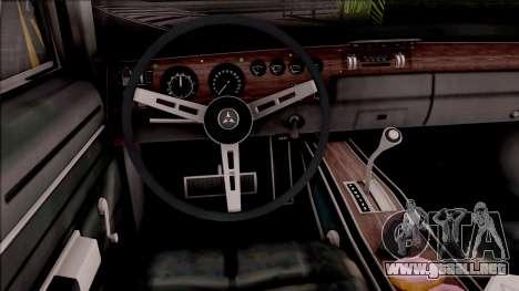 Dodge Charger RT 1970 para visión interna GTA San Andreas