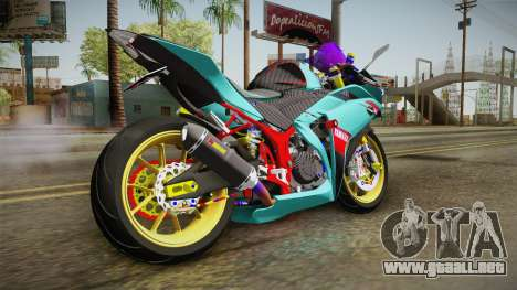 Yamaha R25 Contest para GTA San Andreas left