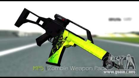 Zombie Weapon Pack para GTA San Andreas tercera pantalla
