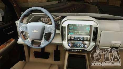 Chevrolet Cheyenne LT 2016 para visión interna GTA San Andreas