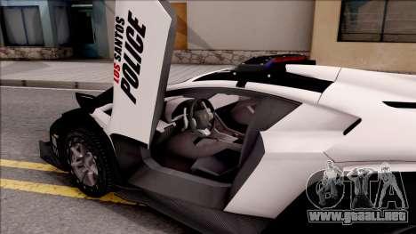 Lamborghini Veneno Police Los Santos para visión interna GTA San Andreas
