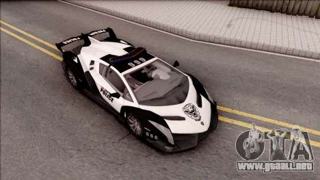 Lamborghini Veneno Police Los Santos para la visión correcta GTA San Andreas