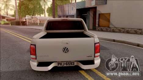 Volkswagen Amarok 4Motion 2017 para GTA San Andreas vista posterior izquierda