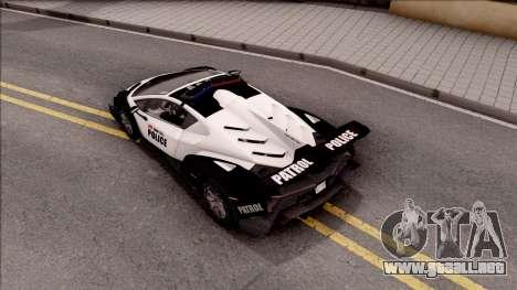 Lamborghini Veneno Police Los Santos para GTA San Andreas vista hacia atrás