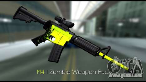 Zombie Weapon Pack para GTA San Andreas segunda pantalla