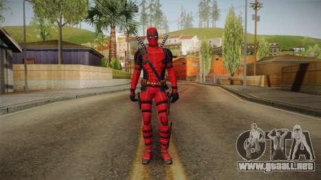 Deadpool The Movie Skin para GTA San Andreas segunda pantalla