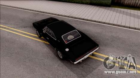 Dodge Charger RT 1970 para GTA San Andreas vista hacia atrás