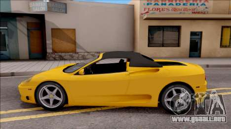 Ferrari 360 Spider US-Spec 2000 HQLM para GTA San Andreas left