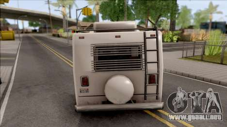 Journey Post Apocalyptic Beta para GTA San Andreas vista posterior izquierda