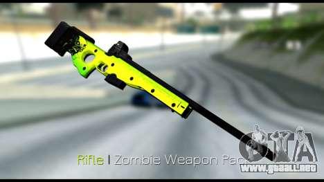 Zombie Weapon Pack para GTA San Andreas sucesivamente de pantalla