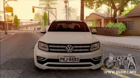 Volkswagen Amarok 4Motion 2017 para visión interna GTA San Andreas
