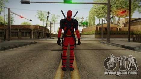 Deadpool The Movie Skin para GTA San Andreas tercera pantalla