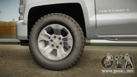Chevrolet Cheyenne LT 2016 para GTA San Andreas vista hacia atrás