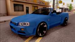 Nissan Skyline R34 Cabrio para GTA San Andreas