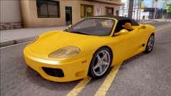 Ferrari 360 Spider US-Spec 2000 HQLM para GTA San Andreas