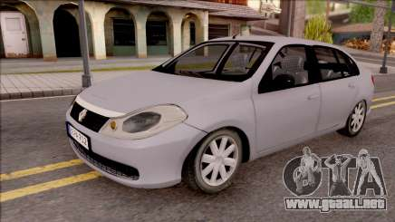 Renault Symbol 2009 Authentique Version para GTA San Andreas