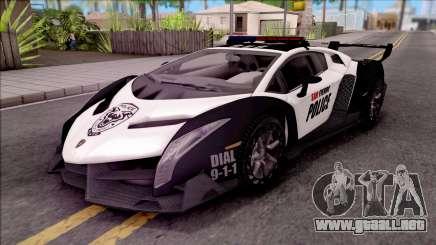 Lamborghini Veneno Police San Fierro para GTA San Andreas