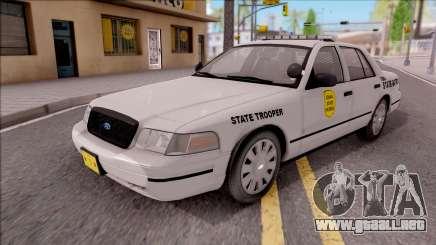 Ford Crown Victoria 2009 Iowa State Patrol para GTA San Andreas