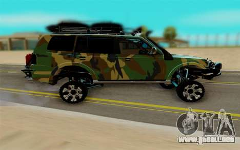 Mitsubishi Pajero IV para la visión correcta GTA San Andreas