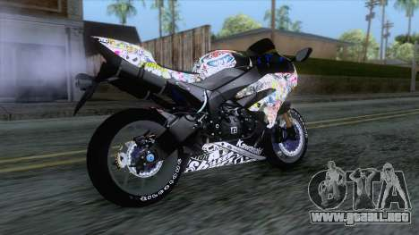 Kawasaki Ninja ZX-6R BoomCustom para GTA San Andreas left
