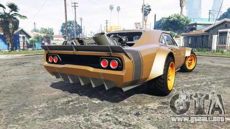 GTA 5 Dodge Charger Fast & Furious 8 [add-on] vista lateral izquierda trasera