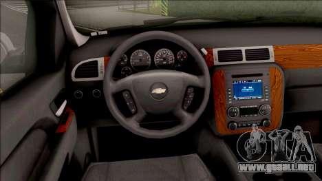 Chevrolet Tahoe LTZ 2008 IVF para visión interna GTA San Andreas