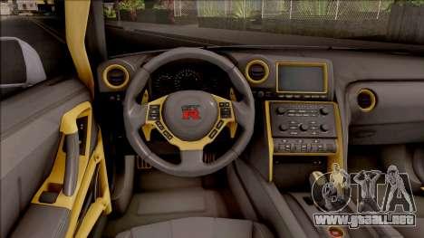 Nissan GT-R R35 LB Walk para visión interna GTA San Andreas